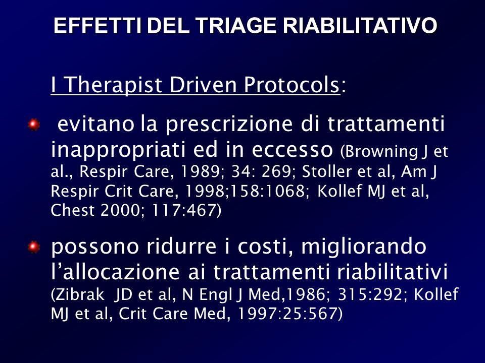 EFFETTI DEL TRIAGE RIABILITATIVO