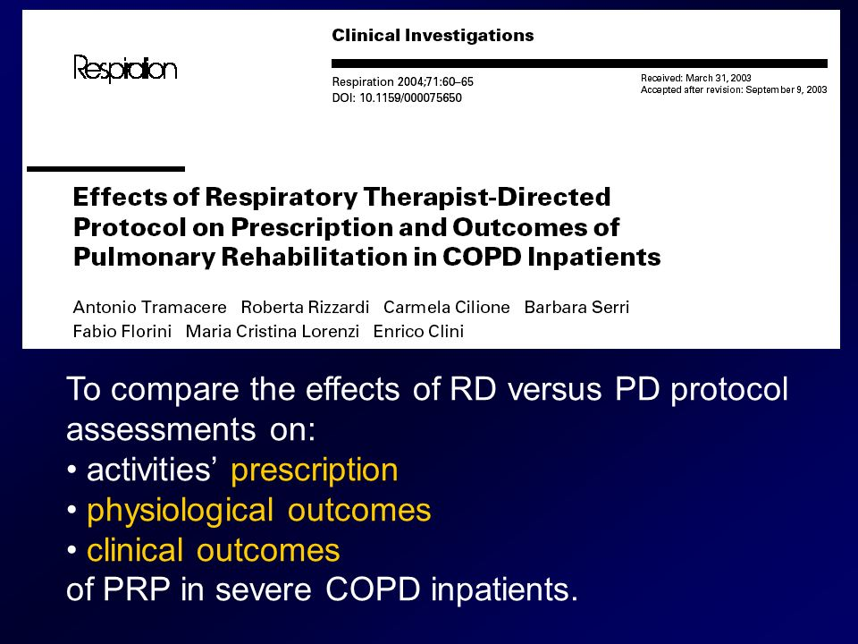 To compare the effects of RD versus PD protocol