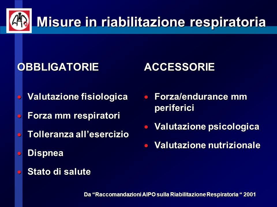 Misure in riabilitazione respiratoria