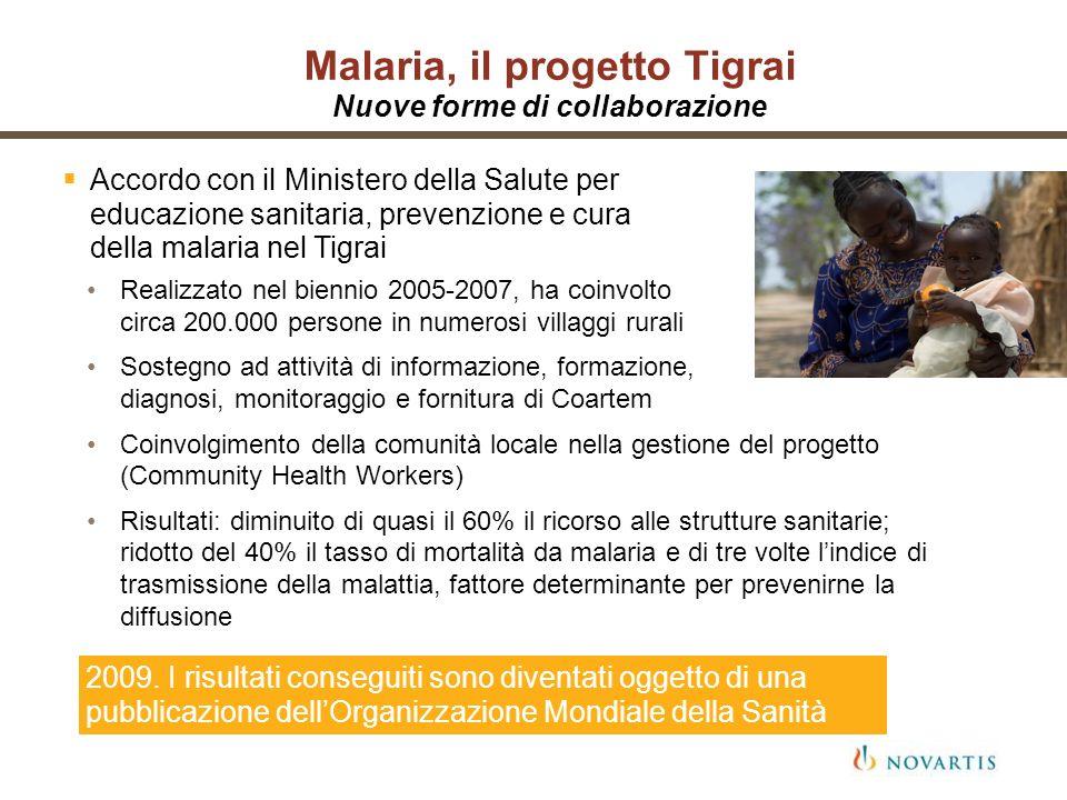 Malaria, il progetto Tigrai Nuove forme di collaborazione