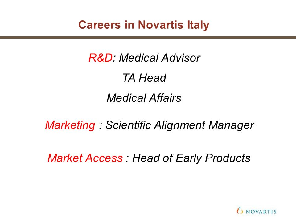 Careers in Novartis Italy