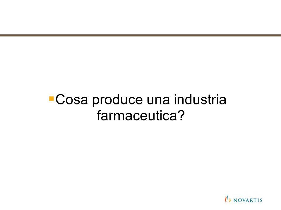 Cosa produce una industria farmaceutica