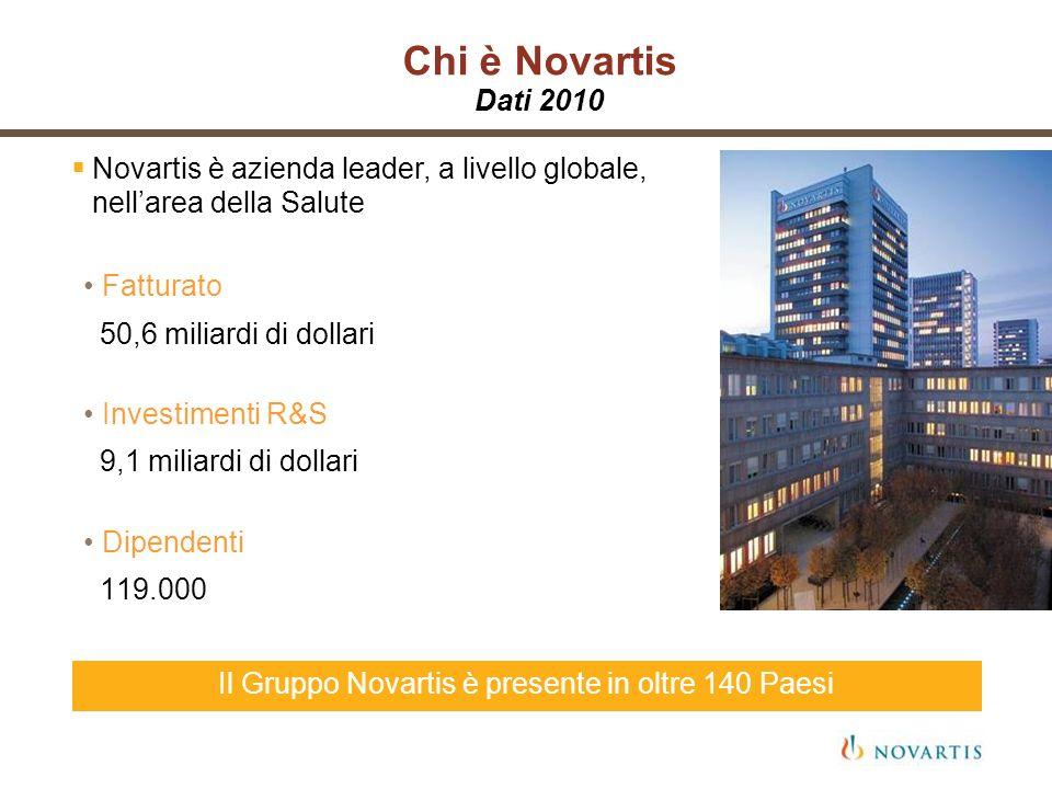 Il Gruppo Novartis è presente in oltre 140 Paesi