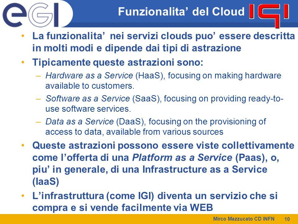 Funzionalita' del Cloud