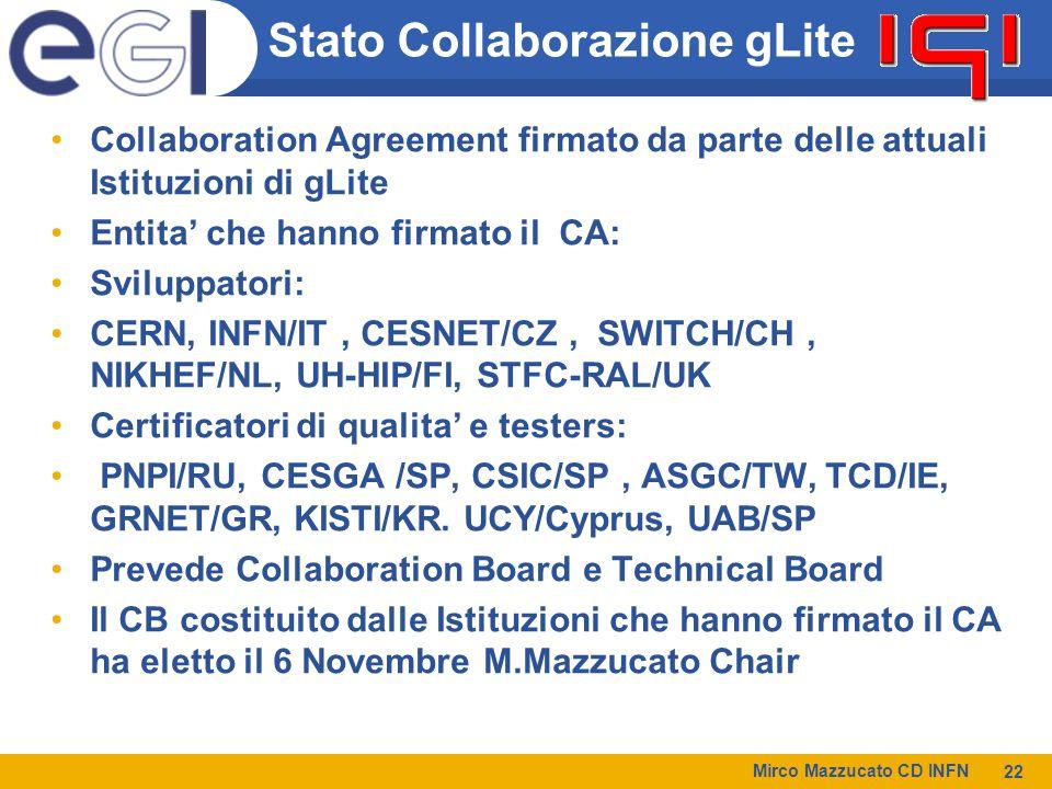 Stato Collaborazione gLite