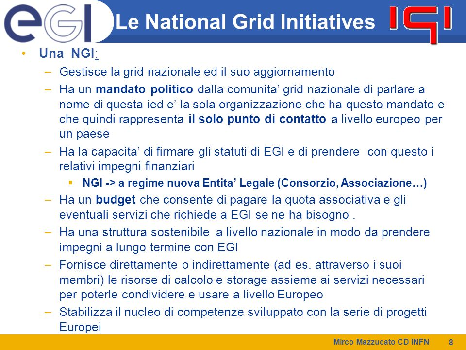 Le National Grid Initiatives