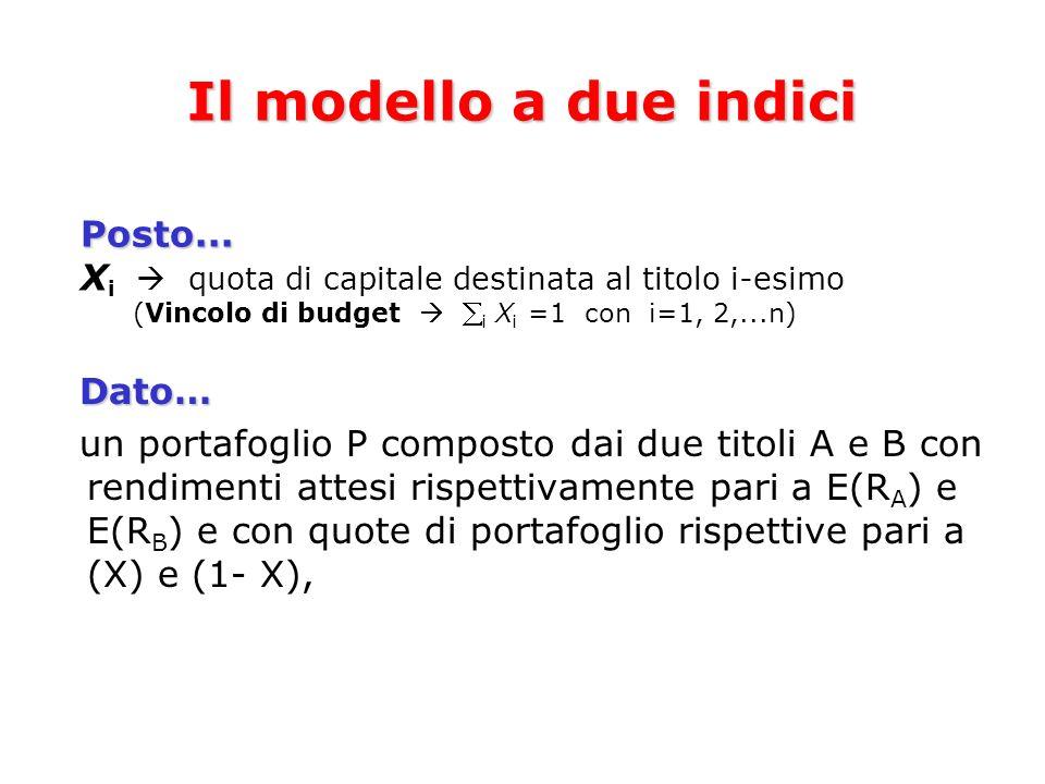 Il modello a due indici Posto...