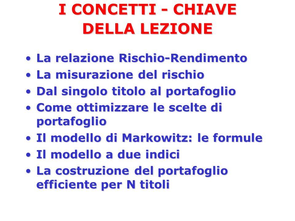 I CONCETTI - CHIAVE DELLA LEZIONE