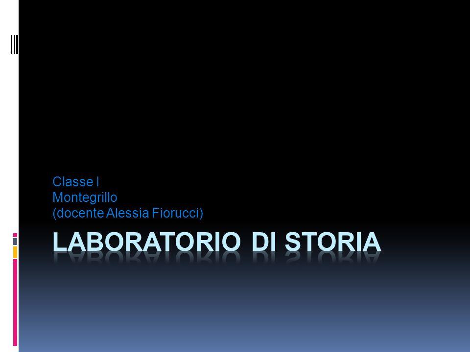 Classe I Montegrillo (docente Alessia Fiorucci)
