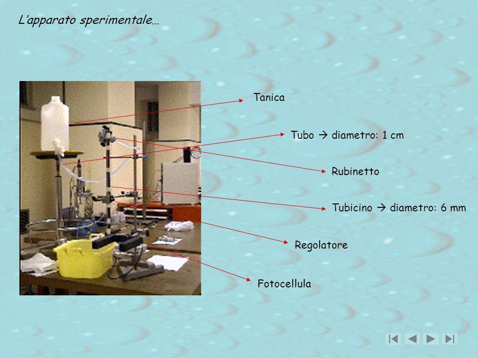 L'apparato sperimentale…