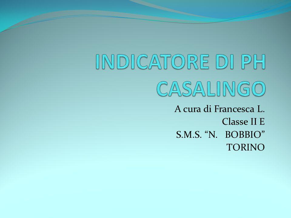 INDICATORE DI PH CASALINGO