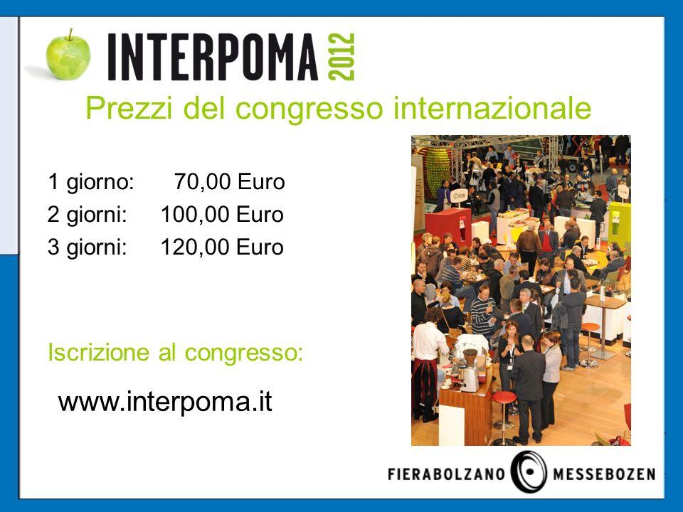 Prezzi del congresso internazionale