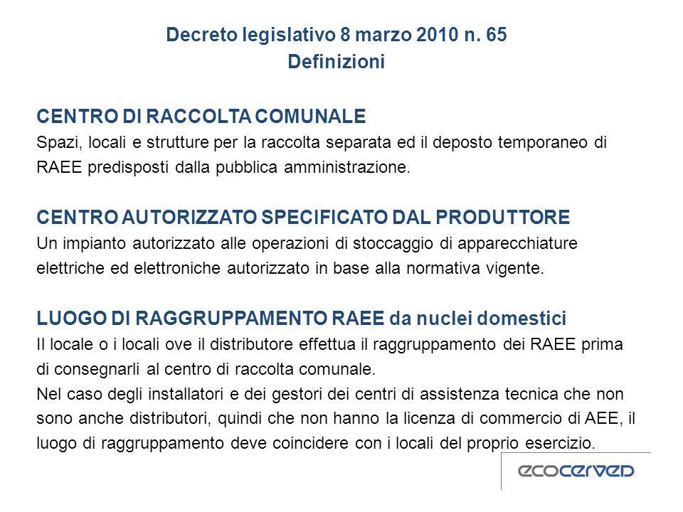 Decreto legislativo 8 marzo 2010 n. 65