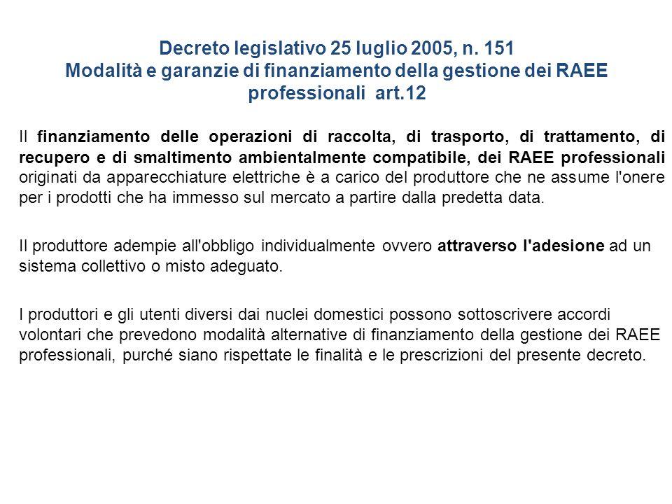 Decreto legislativo 25 luglio 2005, n