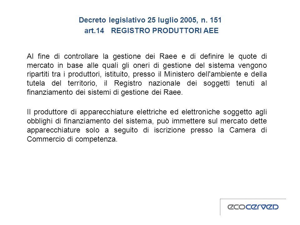 Decreto legislativo 25 luglio 2005, n. 151 art