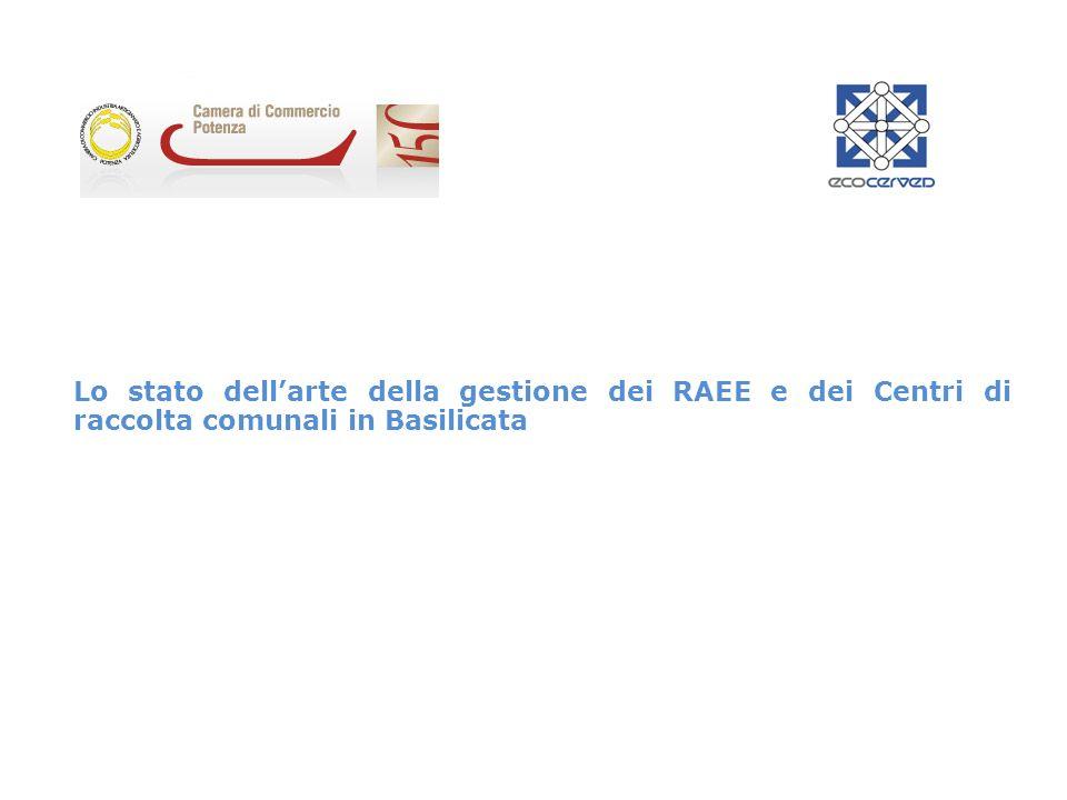 Lo stato dell'arte della gestione dei RAEE e dei Centri di raccolta comunali in Basilicata