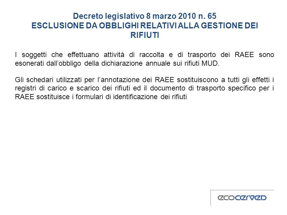 Decreto legislativo 8 marzo 2010 n
