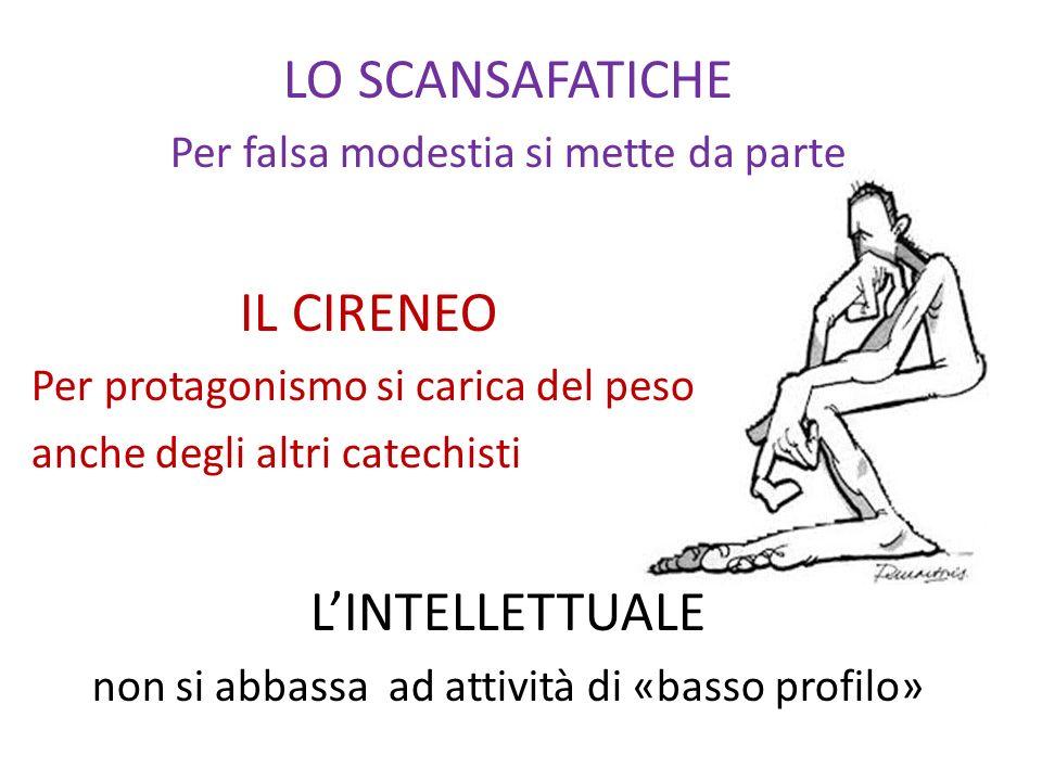 LO SCANSAFATICHE IL CIRENEO L'INTELLETTUALE