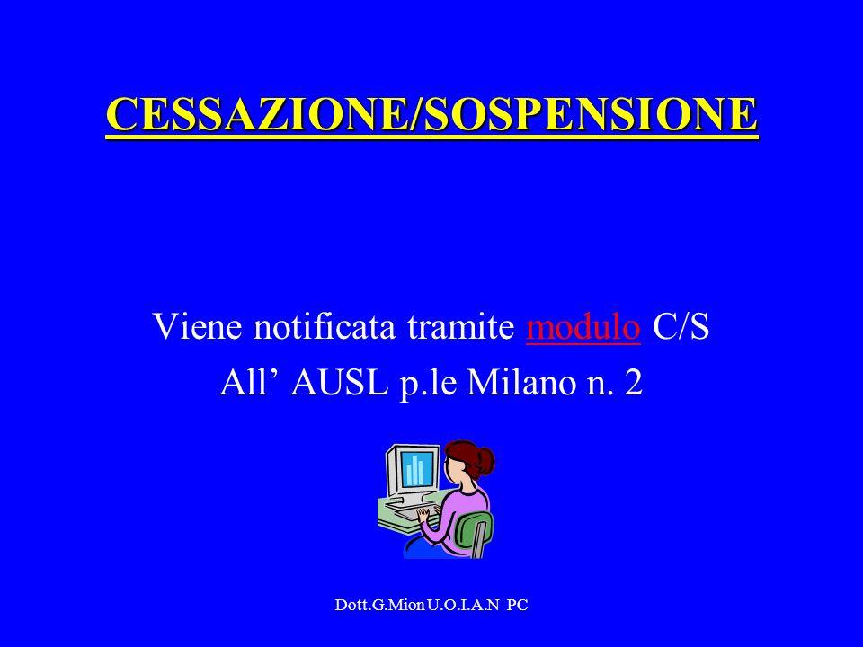CESSAZIONE/SOSPENSIONE