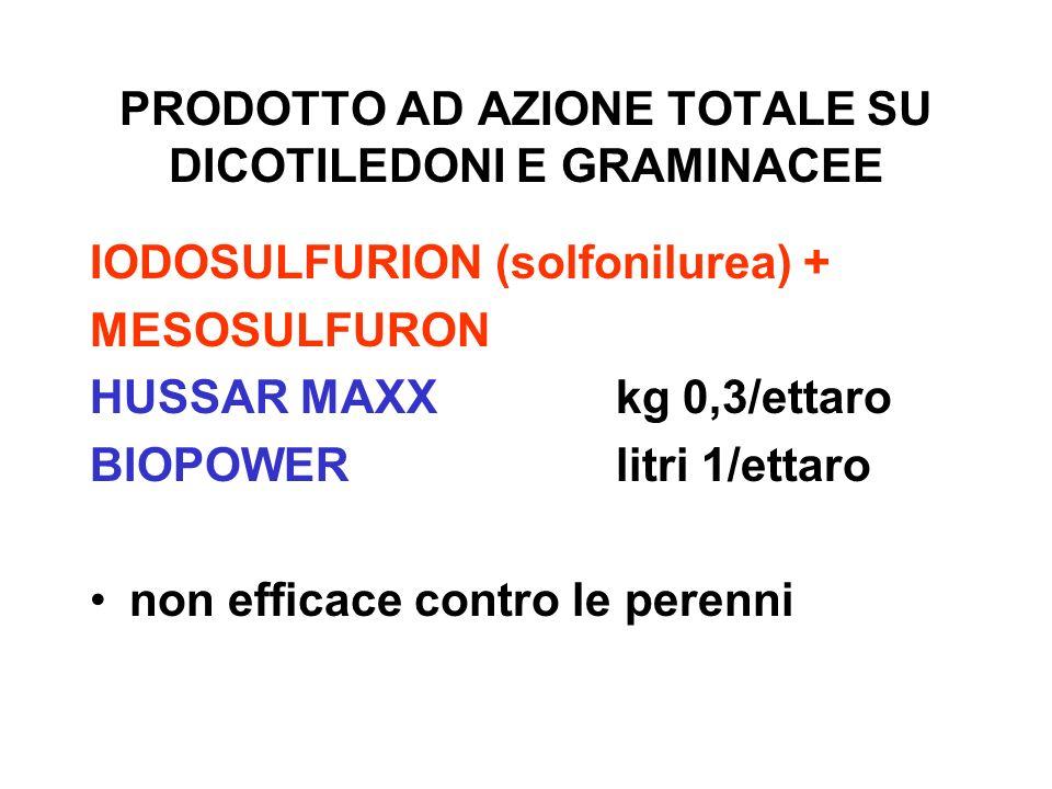 PRODOTTO AD AZIONE TOTALE SU DICOTILEDONI E GRAMINACEE
