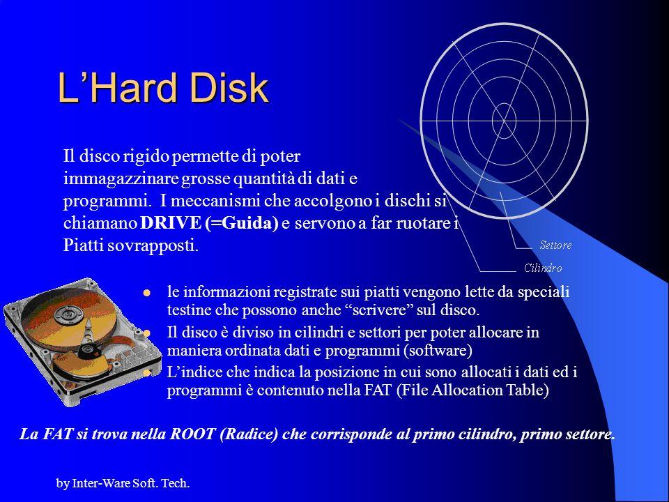 L'Hard Disk Il disco rigido permette di poter