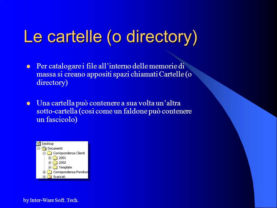 Le cartelle (o directory)