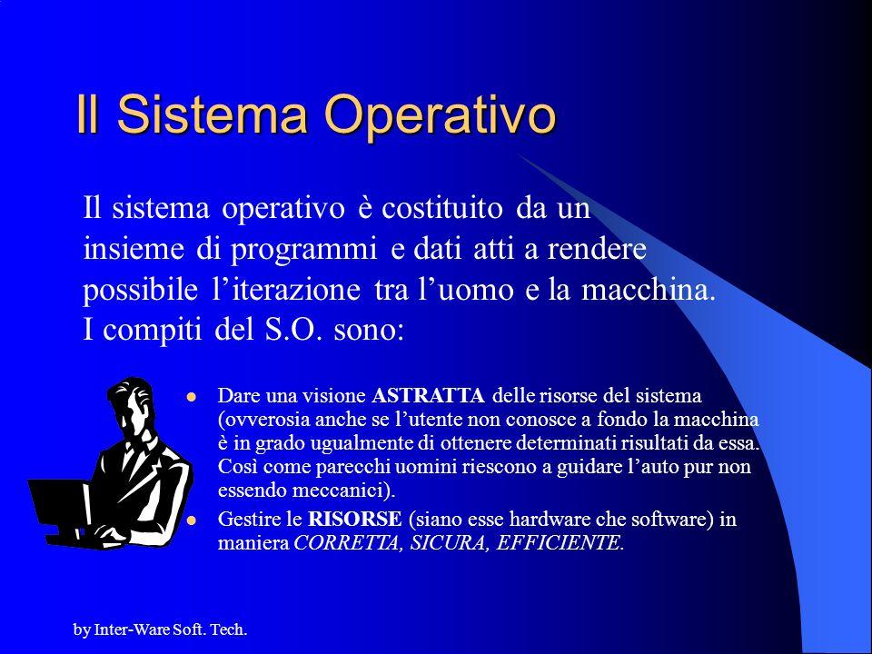 Il Sistema Operativo Il sistema operativo è costituito da un