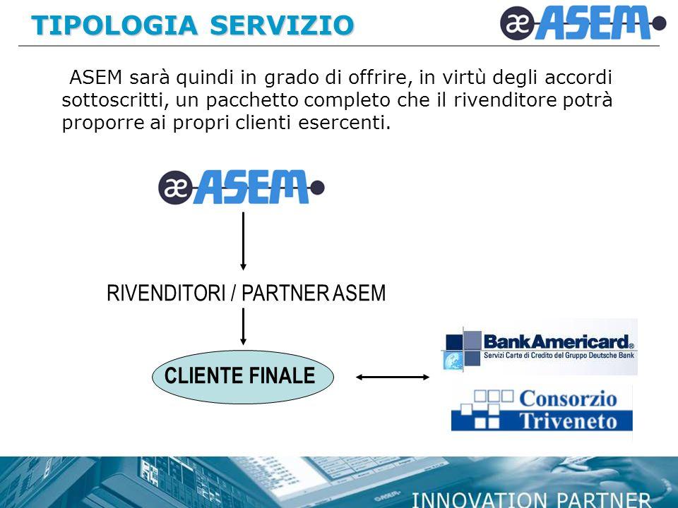 TIPOLOGIA SERVIZIO RIVENDITORI / PARTNER ASEM CLIENTE FINALE