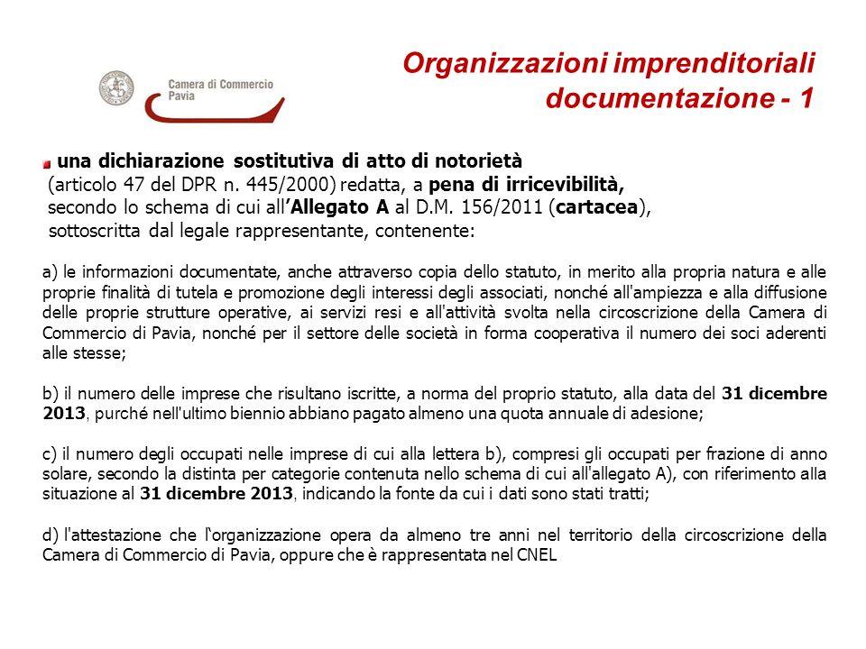 Organizzazioni imprenditoriali documentazione - 1