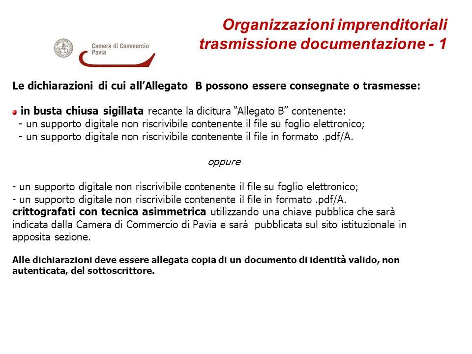 Organizzazioni imprenditoriali trasmissione documentazione - 1