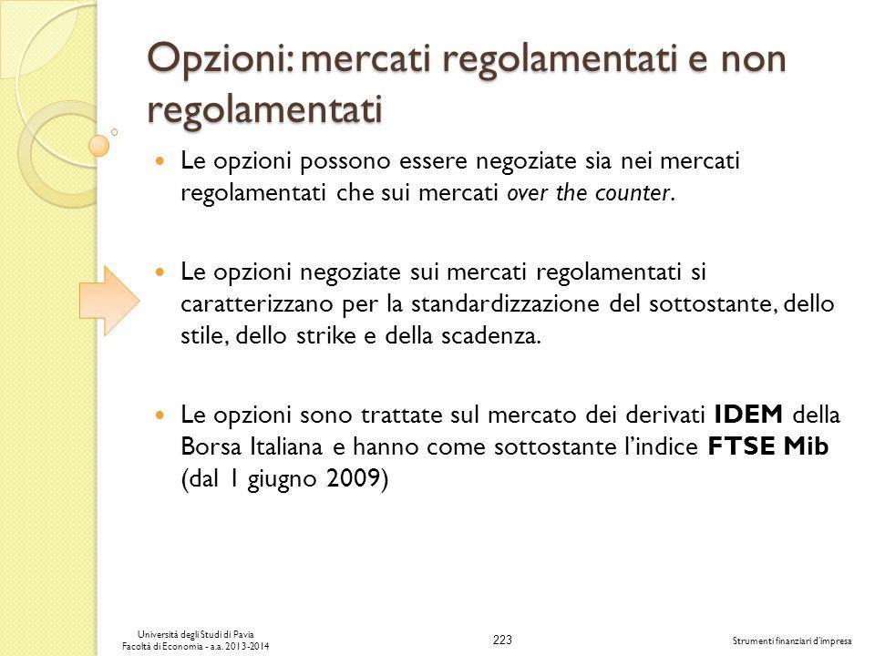 Opzioni: mercati regolamentati e non regolamentati