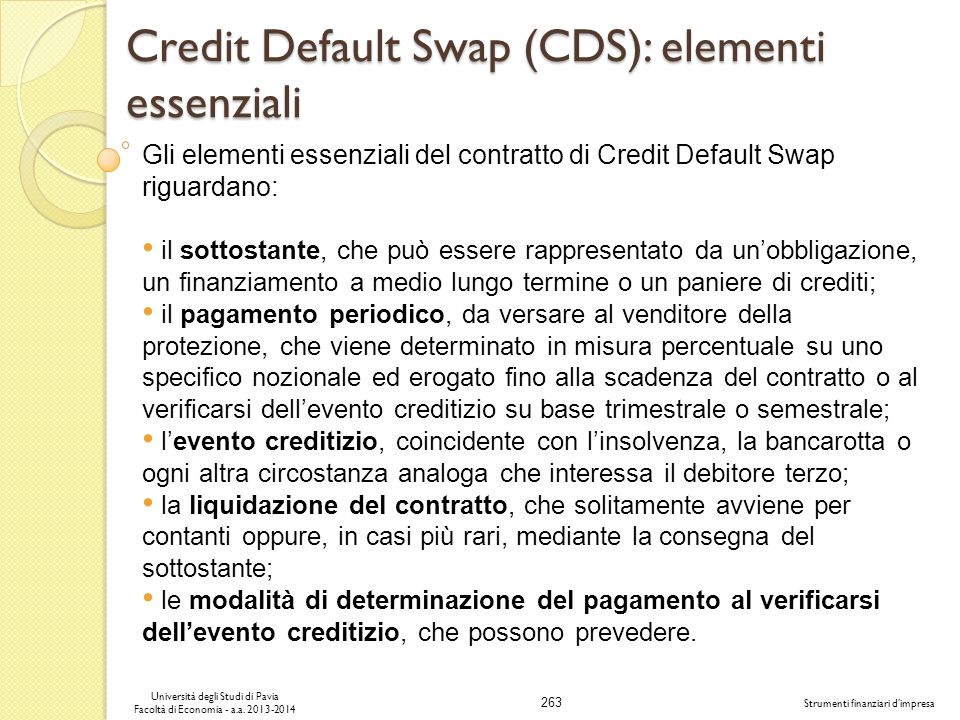 Credit Default Swap (CDS): elementi essenziali