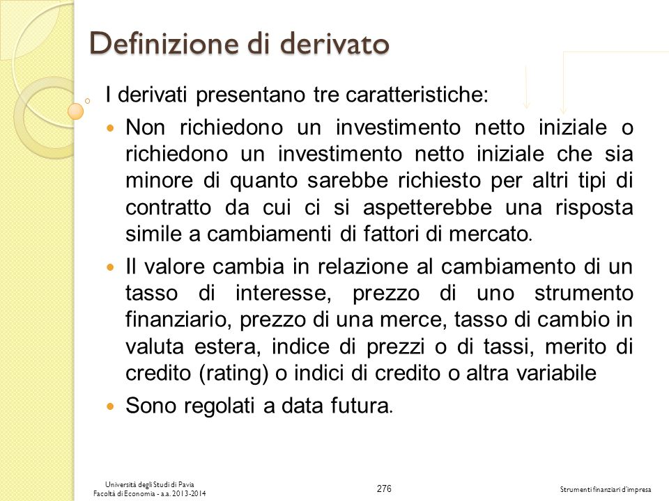 Definizione di derivato