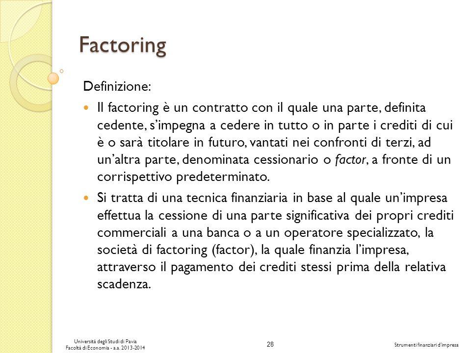 Factoring Definizione: