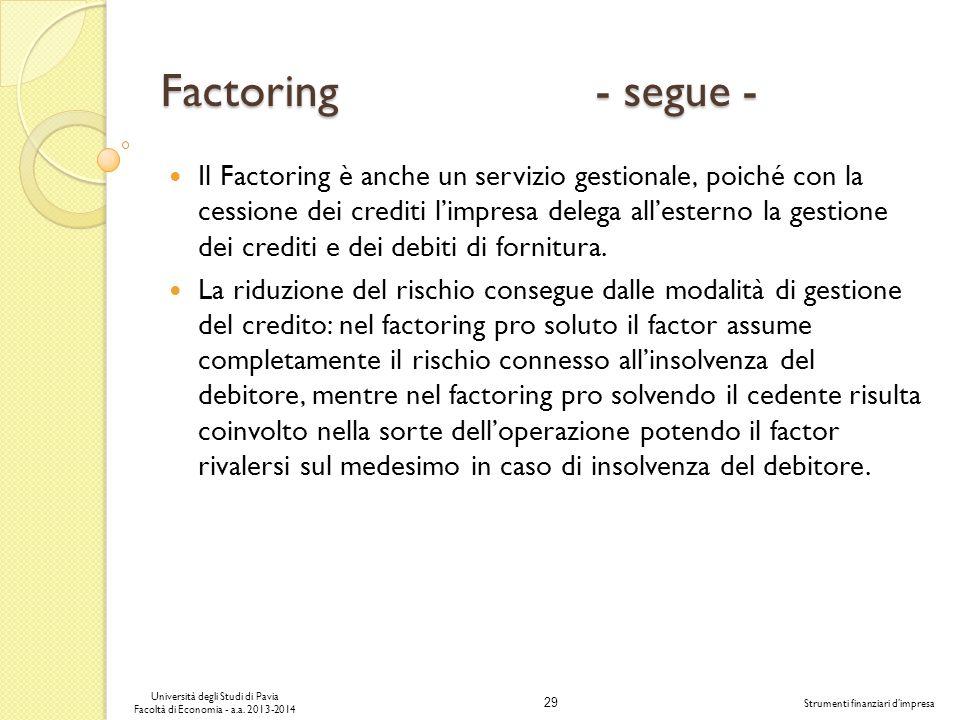 Factoring - segue -