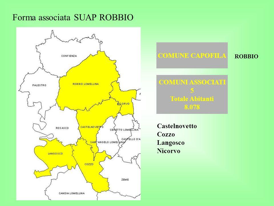 Forma associata SUAP ROBBIO