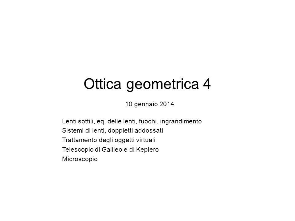 Ottica geometrica 4 10 gennaio 2014