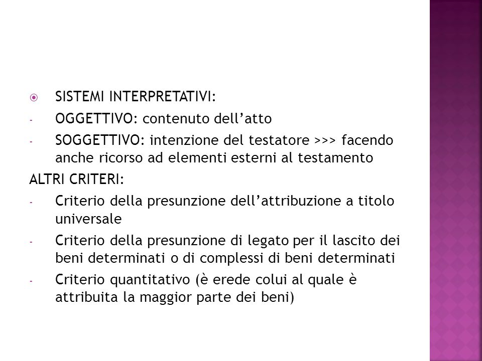 SISTEMI INTERPRETATIVI: