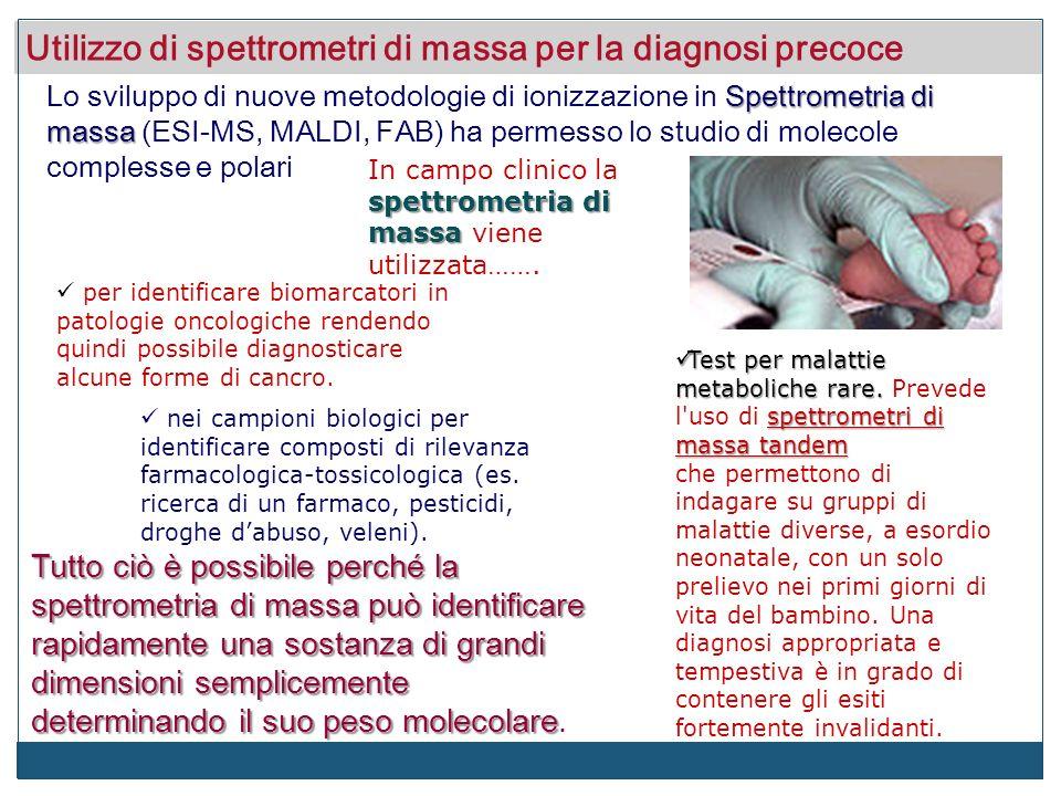 Utilizzo di spettrometri di massa per la diagnosi precoce