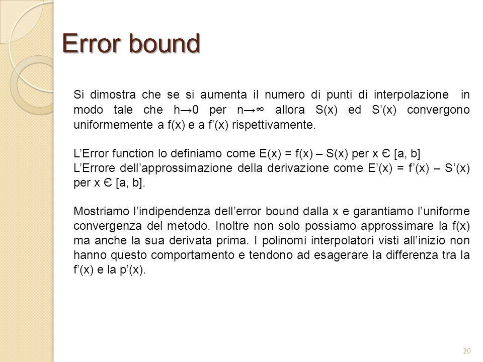 Error bound