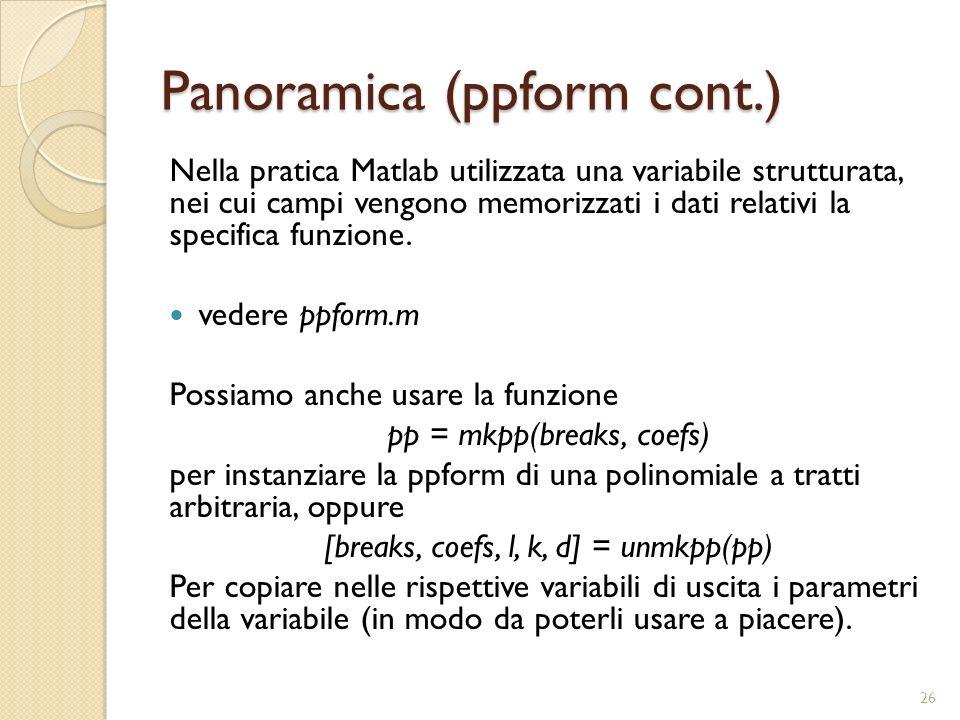 Panoramica (ppform cont.)