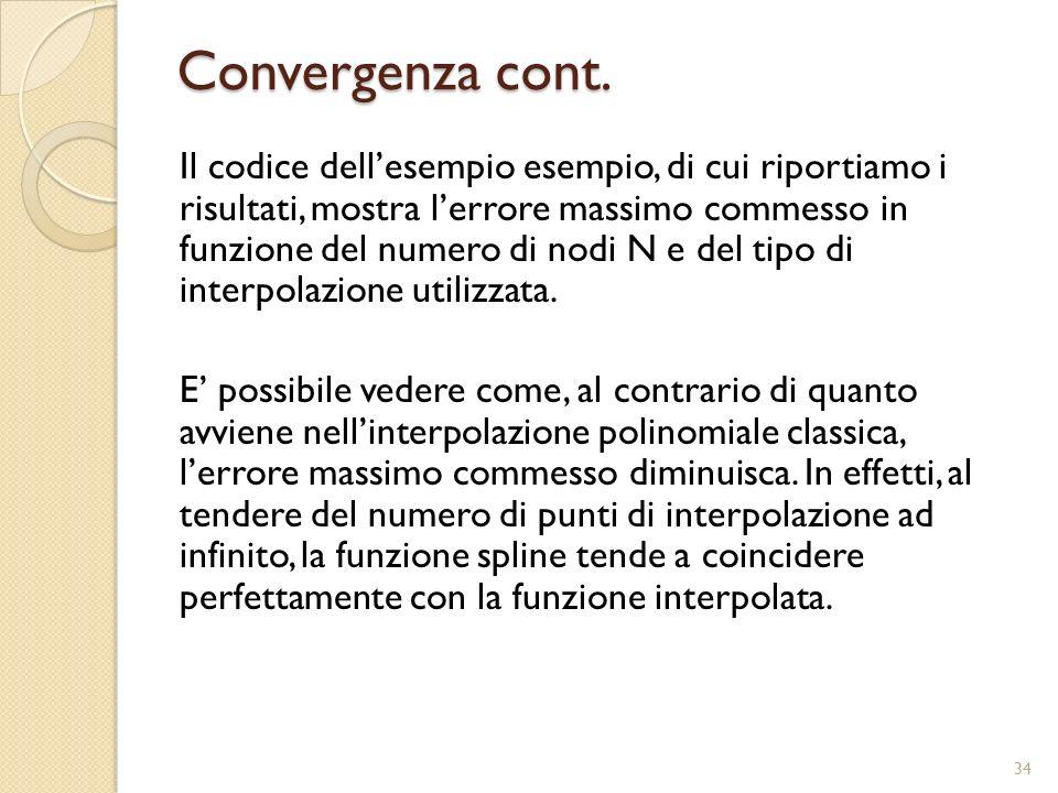 Convergenza cont.