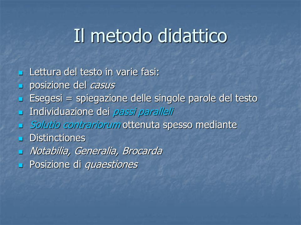 Il metodo didattico Lettura del testo in varie fasi: