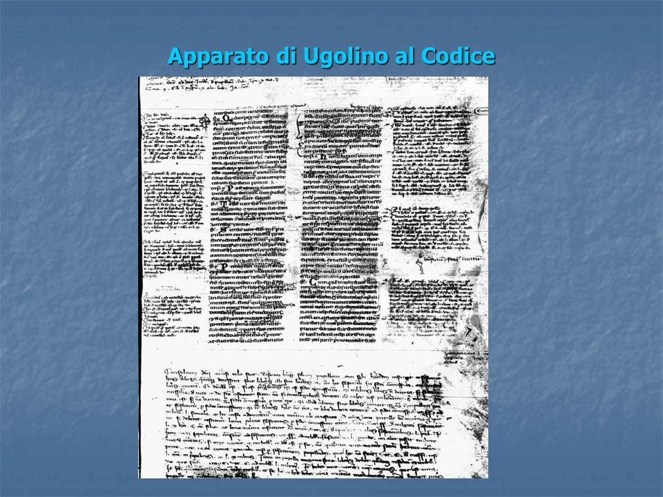Apparato di Ugolino al Codice