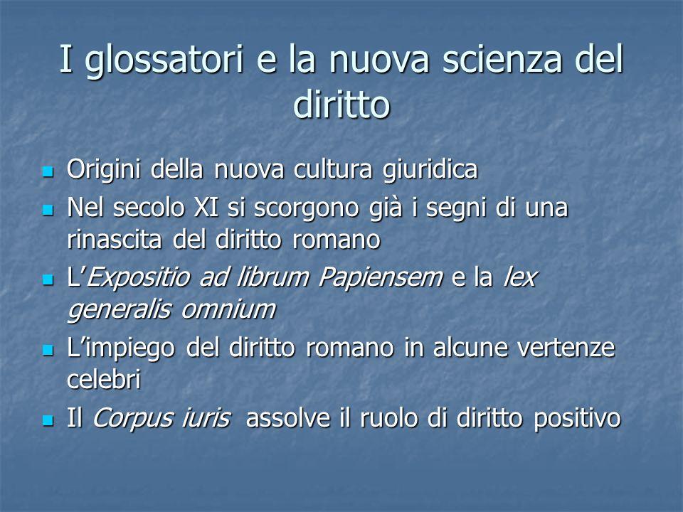 I glossatori e la nuova scienza del diritto
