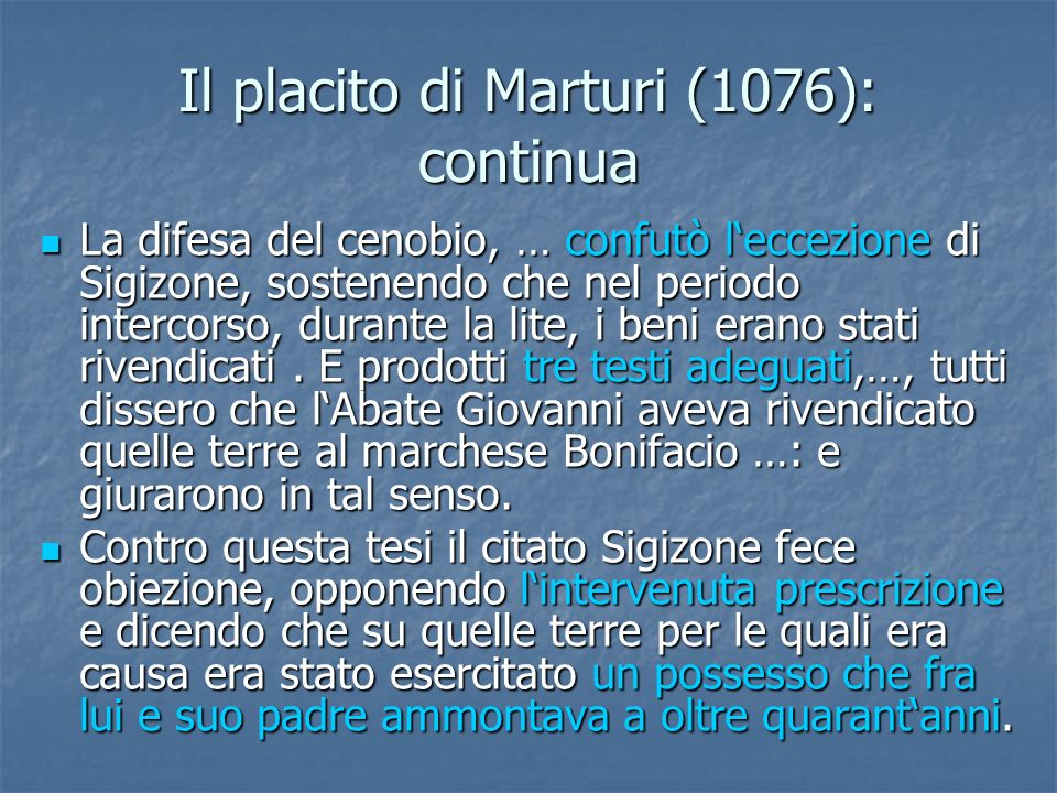 Il placito di Marturi (1076): continua