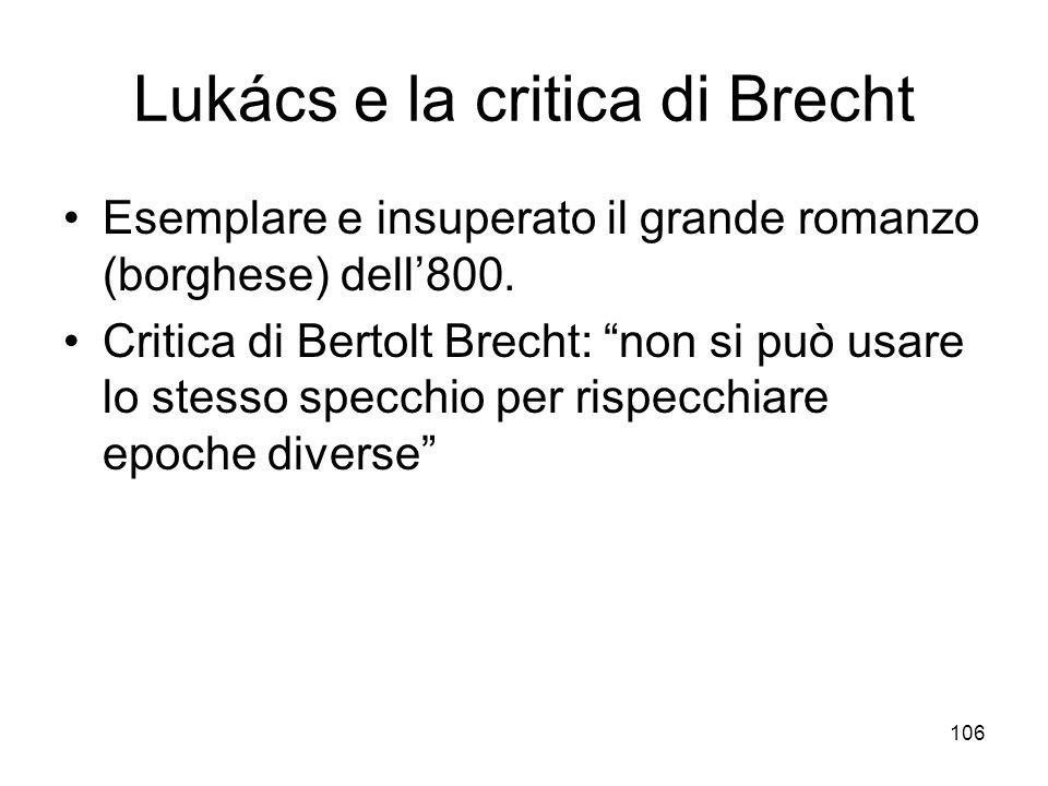 Lukács e la critica di Brecht