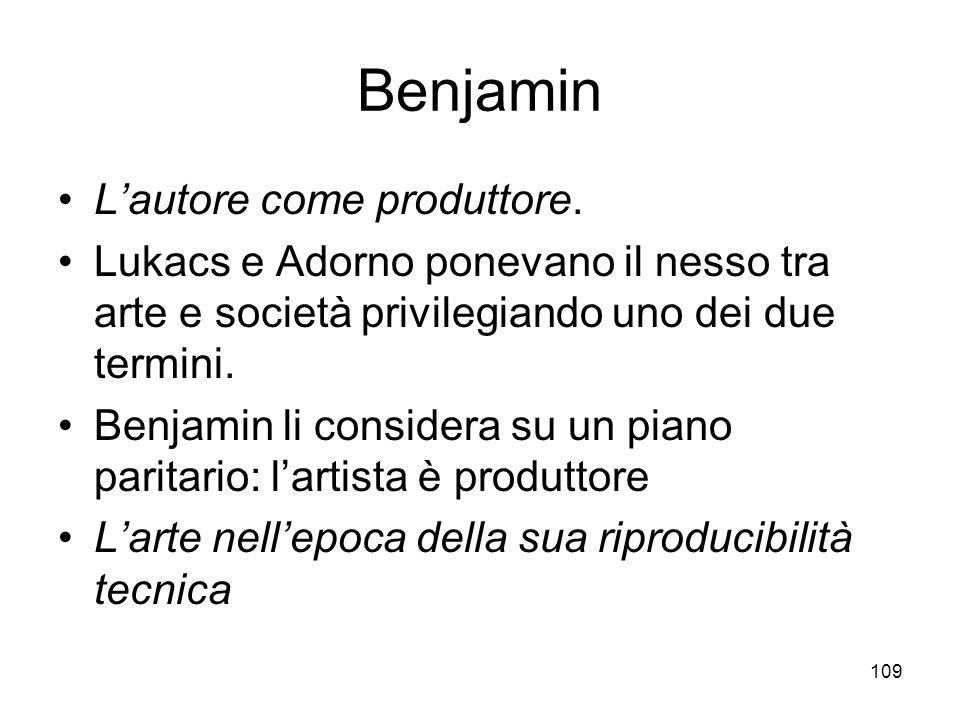 Benjamin L'autore come produttore.