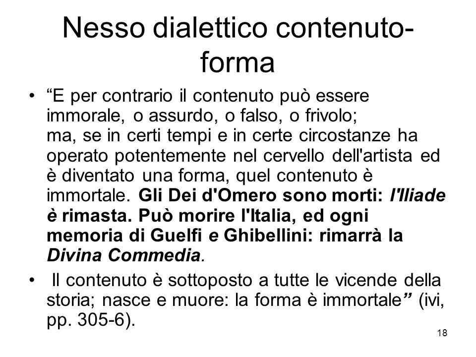 Nesso dialettico contenuto-forma