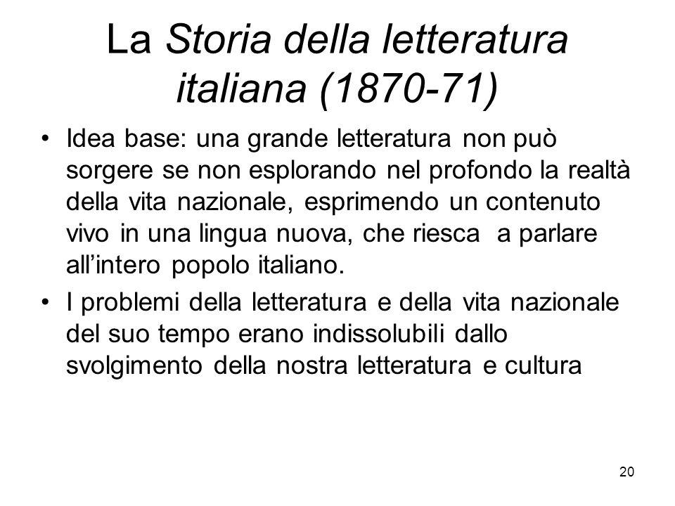 La Storia della letteratura italiana (1870-71)
